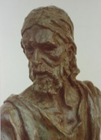 St Barnabus (bronze, detail)