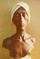 White turbaned head