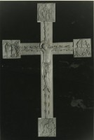 Romanesque styled cross, in limewood (Bath, U.K.)