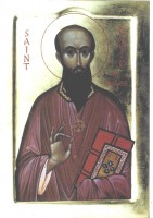 St David of Wales with pointed beard
