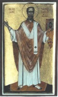 St David of Wales (standing)