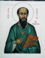 St David of Wales (white background)