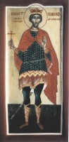 St Edmund King and Martyr of England (standing)