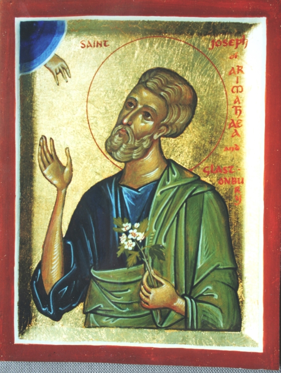 St Joseph Of Arimathaea With Glastonbury Thorn Aidan