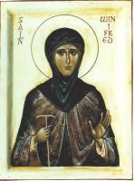 St Winifred (white background)