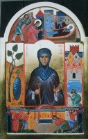 St Winifrid with scenes