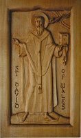 St David of Wales standing (carving)