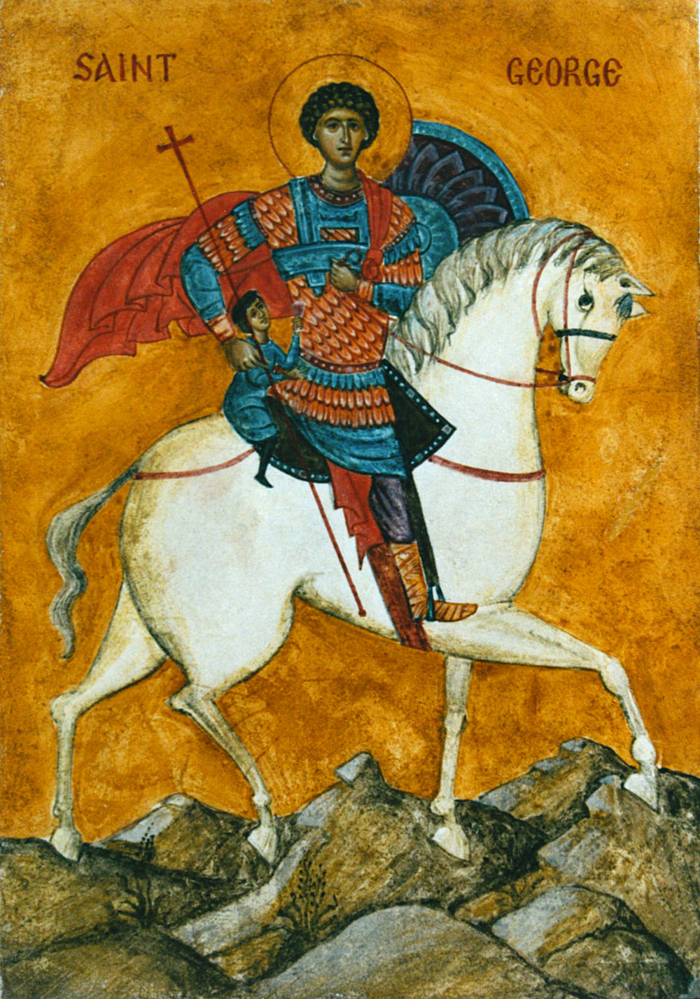 St George On A Horse Fresco Aidan Hart Sacred Icons