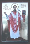 St David of Wales with dove