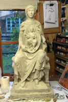Maquette for a stone carving of Our Lady of Lincoln for Lincoln Cathedral