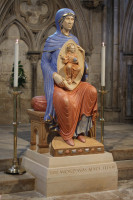 The Blessed Virgin Mary of Lincoln: carved in limestone, polychromed and gilded