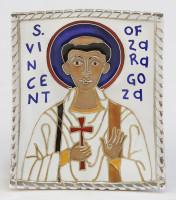 St Vincent of Zaragoza (cloisonné)