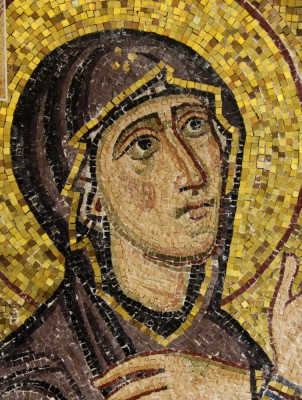 mary at the foot of the cross mosaic