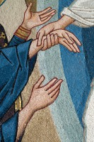 detail from The Resurrection mosaic