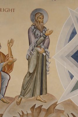 Transfiguration fresco icon elijah figure