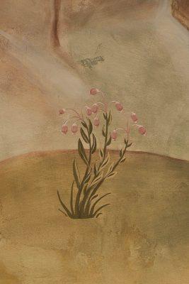 Transfiguration fresco icon flower