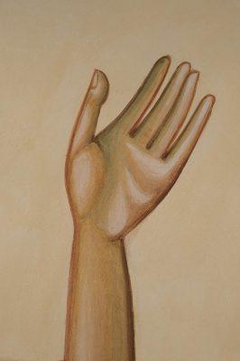 Transfiguration fresco icon james hand