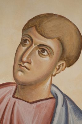Transfiguration fresco icon john face