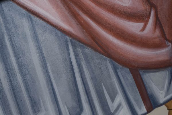 Transfiguration fresco icon moses detail 2