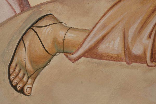 Transfiguration fresco icon peter foot