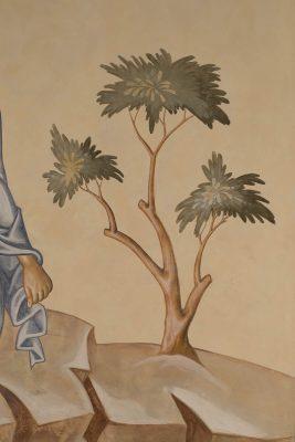 Transfiguration fresco icon tree