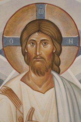 Transfiguration fresco icon xc face 1