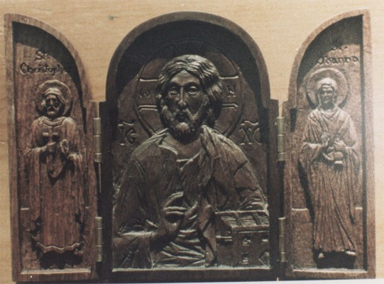 Christ with St Christopher and St Joanna
