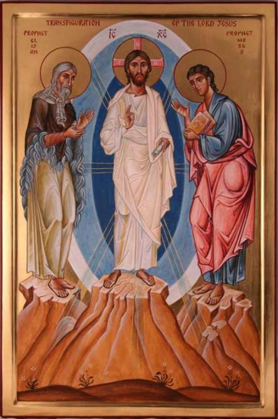 Triptych detail The Transfiguration