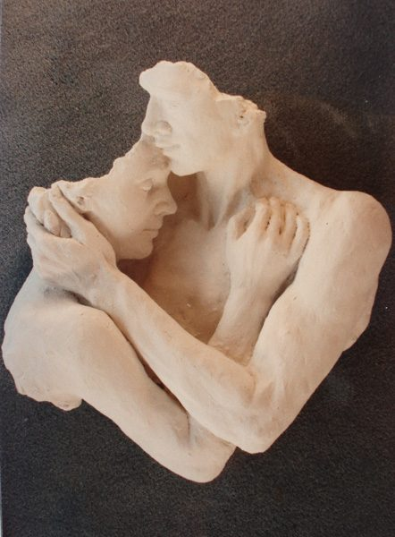 Lovers (cast in plaster)