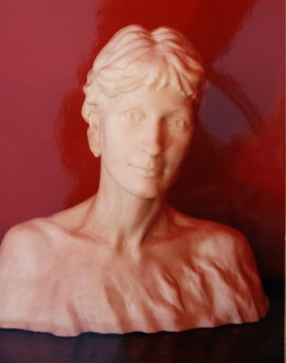 Lucinda portrait (cast in resin)