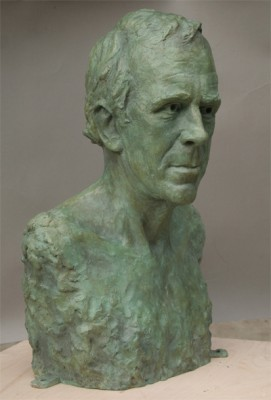 Portrait of Patrick Holden (Bronze. Commissioned by HRH The Prince of Wales)