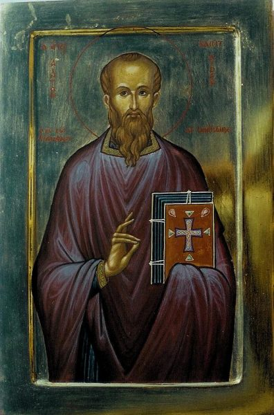 St Aidan (in English and Greek)