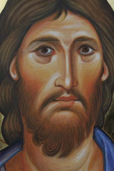 Detail of Christ the Saviour. St John's Abbey, Collegeville, Minnesota, USA.