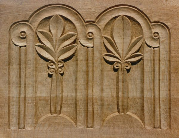 Organ case panel, More, Shropshire