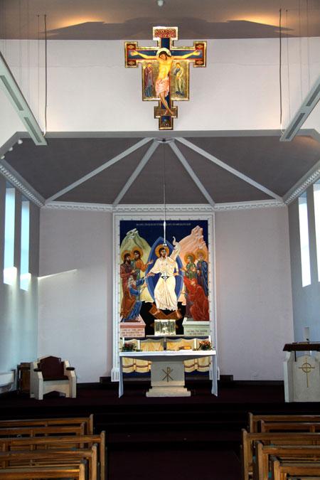 Interior of St Urban's Roman Catholic Church