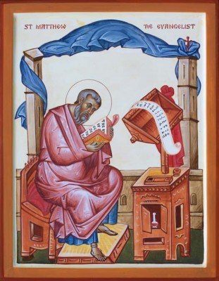Saint Matthew the Evangelist 350 x 275mm (13.75 x 11.75 inches) For sale: £550 (ex. VAT)