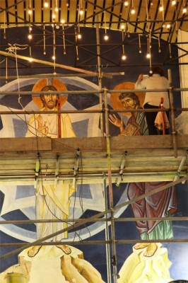 Our Lady of Lourdes Catholic Church, Leeds. 9.5 x 4.5 metres, executed in fresco, January 2012