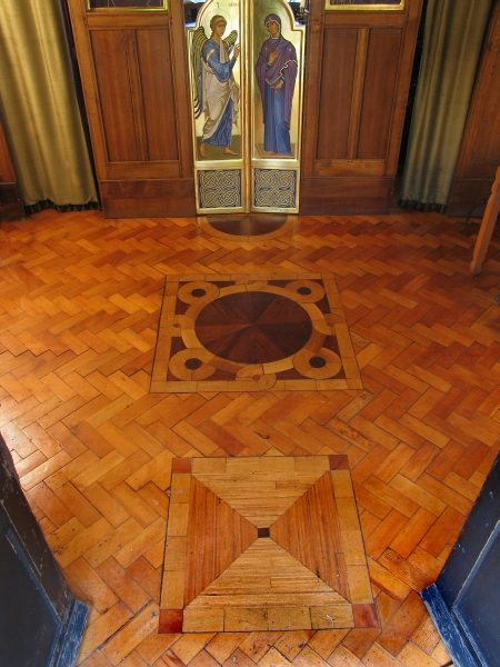 Wooden Mosaic Floor in Monastery Chapel