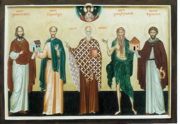 Saints Gwrnerth, Llywelyn,Teon, Gwydfarch and Tyssilio