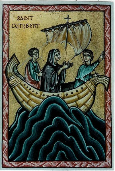 St Cuthbert (in boat)