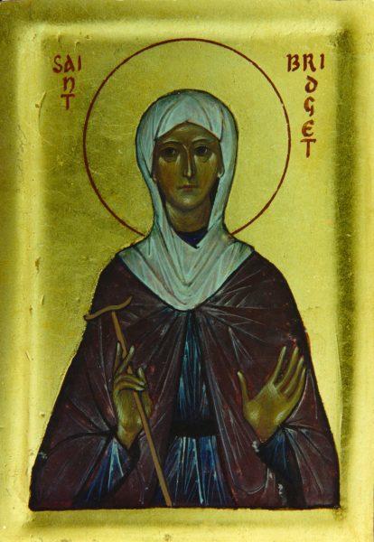 St Bridget (half figure)