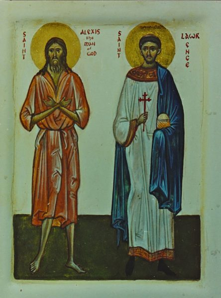 St Lawrence (with St Alexis the Man of God)