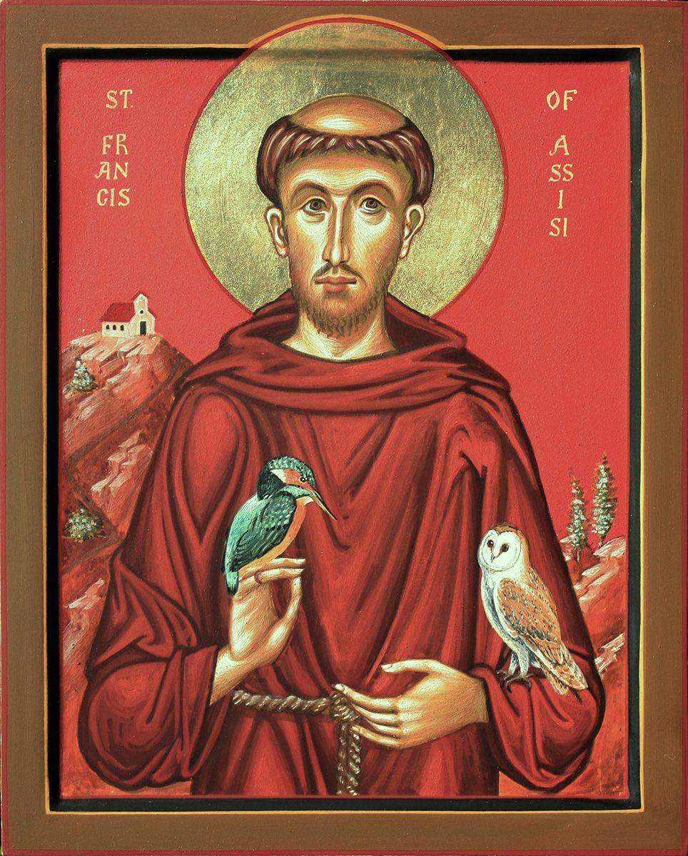 St Francis of Assisi - Aidan Hart Sacred Icons