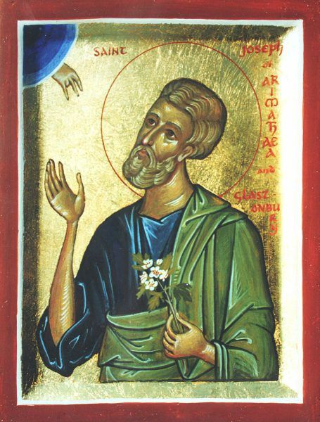 St Joseph of Arimathaea with Glastonbury thorn