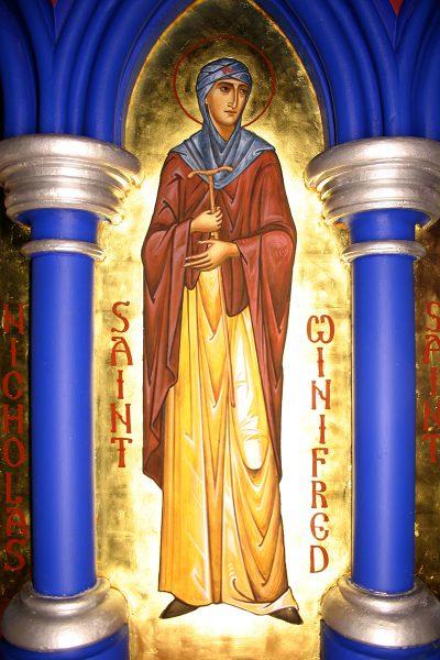 St Winifred (fresco)