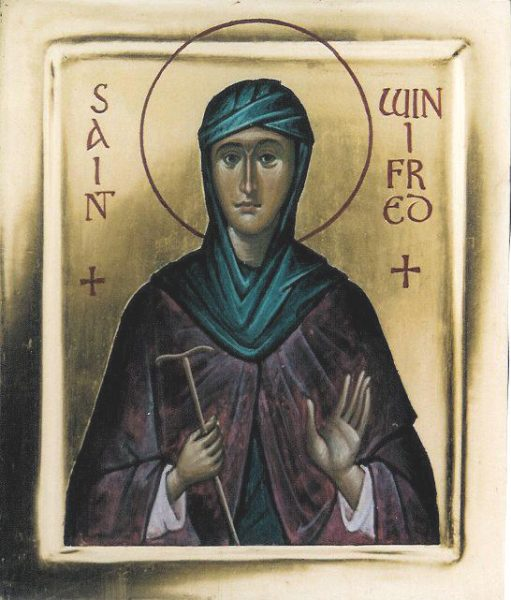 St Winifred (gold background)