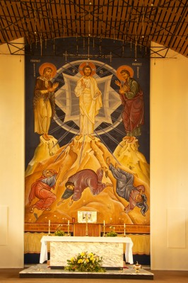 The Transfiguration Fresco, 9.5 x 5.5 metres, Our Lady of Lourdes, Leeds, UK