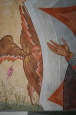 The Virgin Orans (detail with Seraphim)