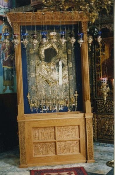 Casing for the Portaitissa icon, Iviron Monastery, Mount Athos