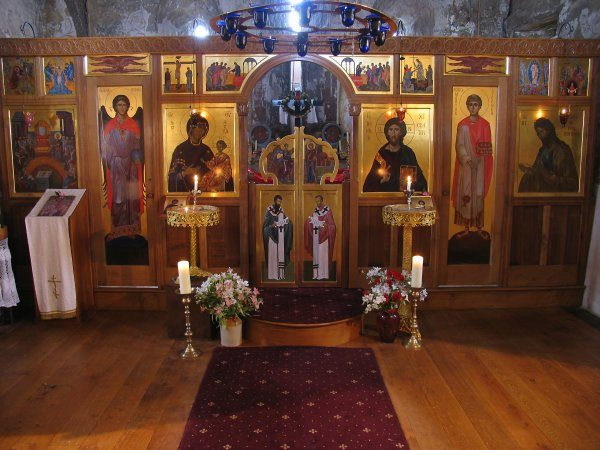Oak carved iconostasis